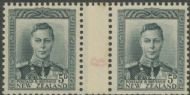NZ Counter Coil Pair SG 682 1947 5d King George VI Join No. 8 (NCC/308)